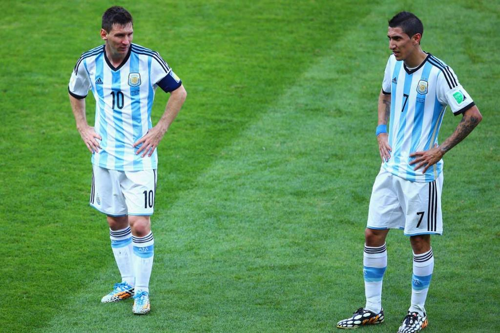 Lionel Messi and Angel di Maria