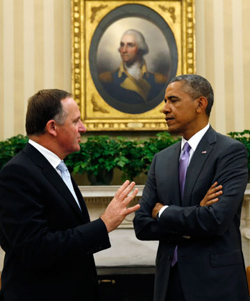 Barack Obama and John Key