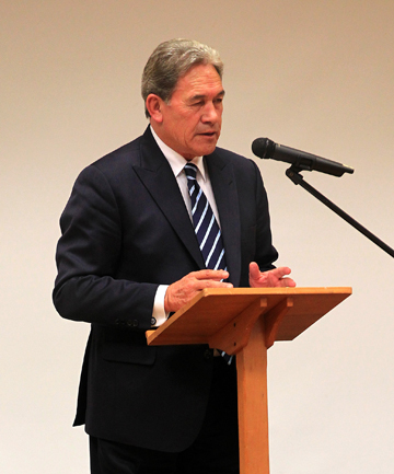 POLITICAL TALK: NZ First leader Winston Peters.