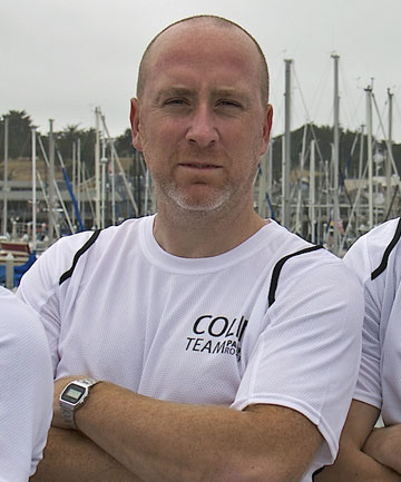 SAFE: Colin Parker, 36, the lone Kiwi on the four-man Team Pacific Rowers, who had to be rescued after their boat almost sunk during the Great Pacific Race.