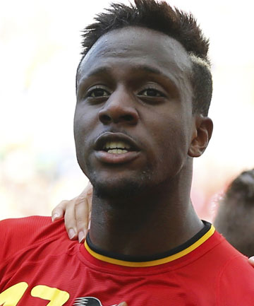 RISING STAR: Teenager Divock Origi has become a household name in Belgium after helping his side overcome Russia this morning.