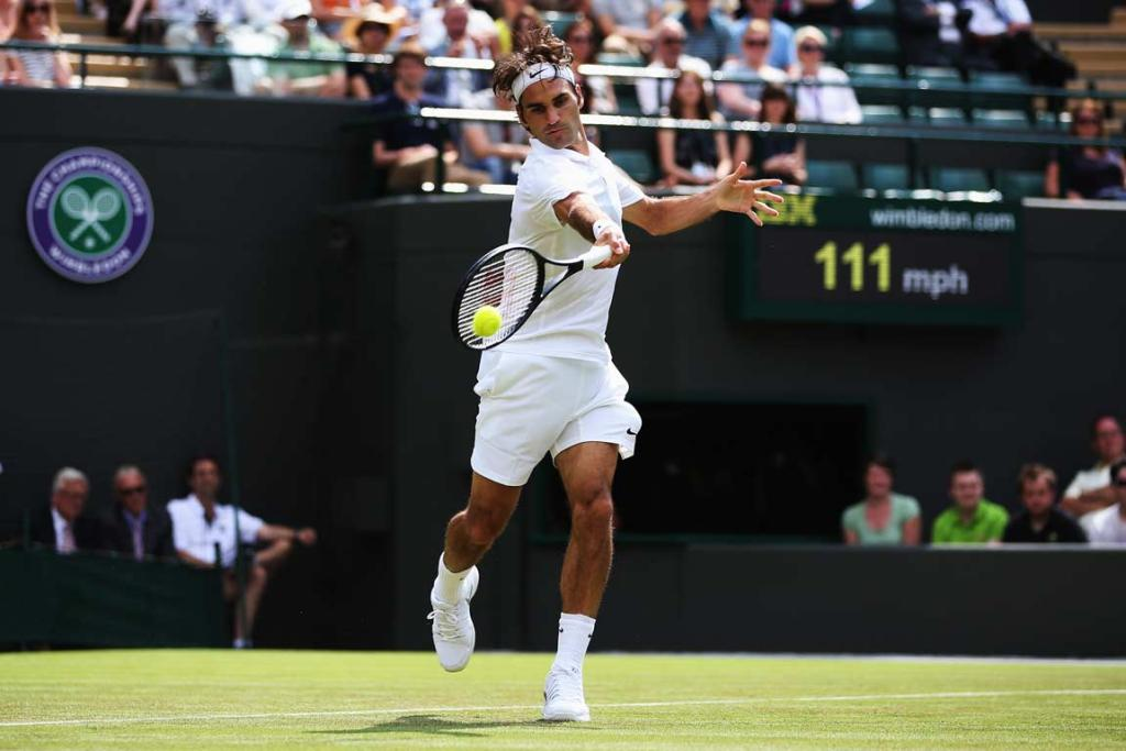Roger Federer showed signs of old as he breezed by Paolo Lorenzi in the first round at Wimbledon.