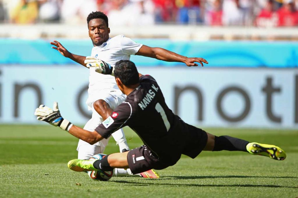 Daniel Sturridge and Keylor Navas