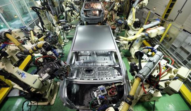 Hyundai sedans are assembled at a factory of the carmaker in Asan, about 100 km south of Seoul.