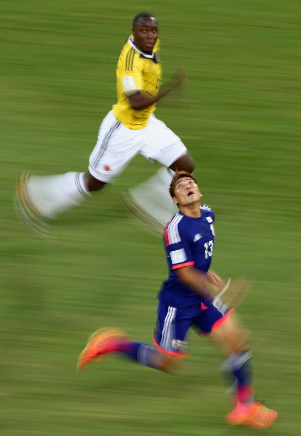 Yoshito Okubo of Japan and Eder Alvarez Balanta of Colombia.