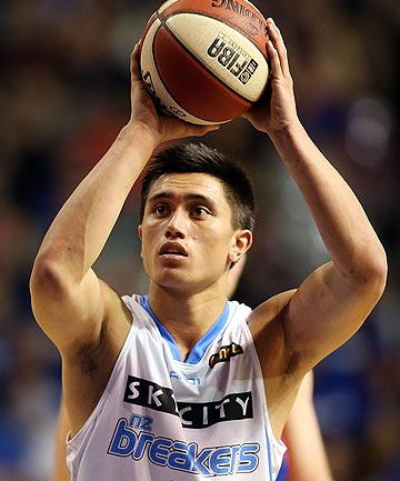 MISSED OUT: Young NZ Breakers star Reuben Te Rangi has not been among the 24 players to trial for the Tall Blacks squad to attend the World Cup in Spain later this year.
