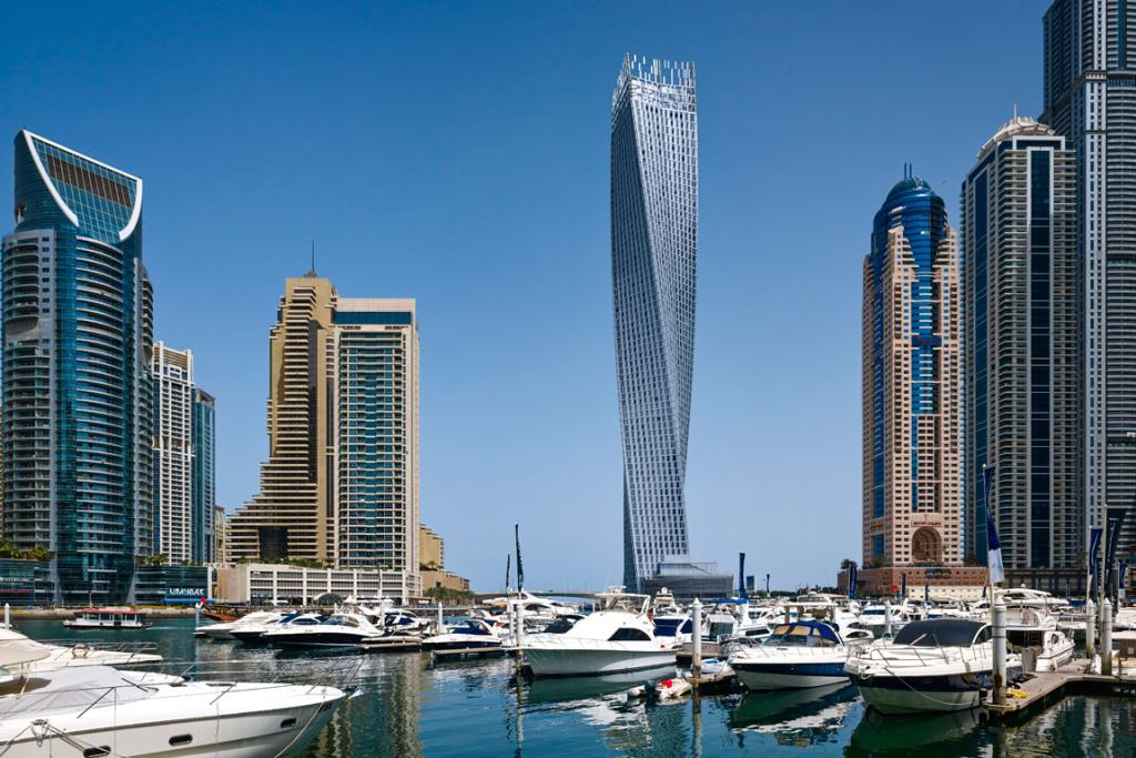 TWISTED: Cayan Tower in Dubai was the Middle East and Africa region winner of 2014's best tall buildings.