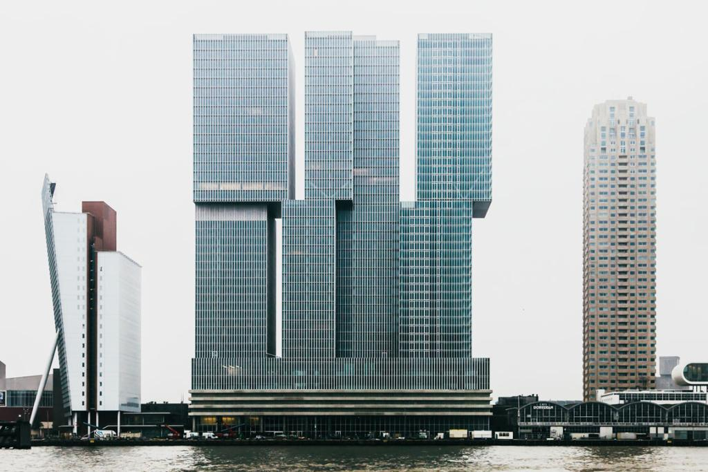 TOPPING OUT: De Rotterdam in Rotterdam is the European winner of 2014's best tall buildings and the tallest building in the Netherlands.