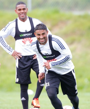 TWO OF THE BEST: Costa Ricans Carlos Hernandez, front, and Kenny Cunningham were on fire for the Phoenix last season.