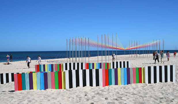 ALWAYS BEAUTIFUL: An annual sculpture display at Perth's Cottesloe Beach.