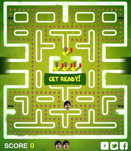This is not a mockup - you can play a this Suarez-themed version of PacMan at bitemangame.com.