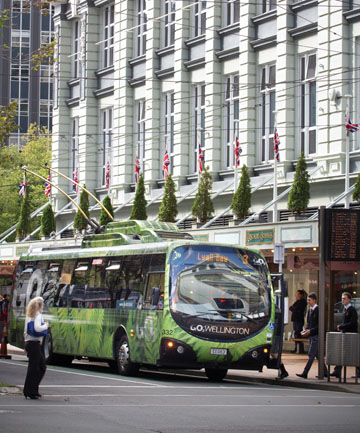 WIRED: Trolley buses have been a feature of Wellington for years, and wire that supply them with electricity criss-cross the city.