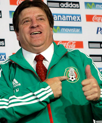 PEAS IN A POD: Mexico coach Miguel Herrera does look a lot like Barney Rubble.