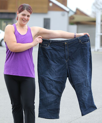 HALF HER FORMER SELF: Carolyn Jackson has lost 82.2kg.