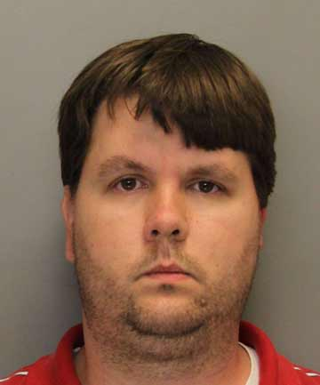 CHARGED WITH MURDER: Justin Ross Harris in a booking photo.