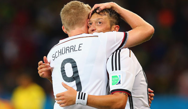 Mesut Ozil and Andre Schurrle