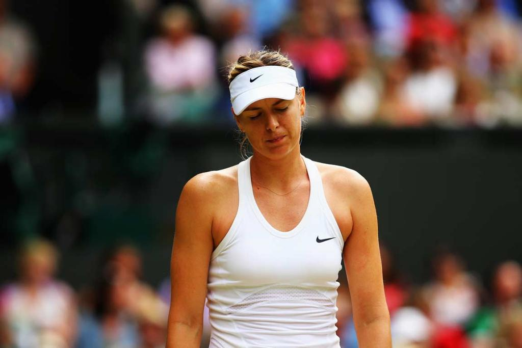Maria Sharapova saved six match points before eventually falling to Angelique Kerber in the fourth round.