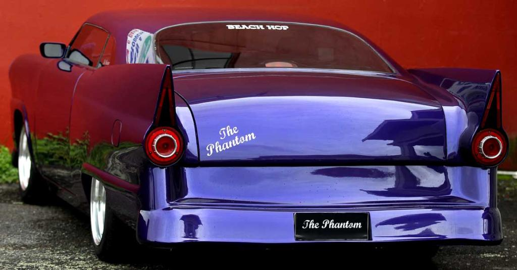 Terence Costello's hand built car called ''The Phantom'' based on a 1956 Ford Customline.