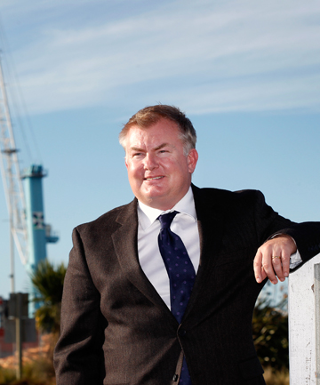 FORWARD THINKING: Kotahi chief executive Chris Greenough visited Timaru to work on the finer details of a deal made last week which will lead to increased volumes of containers going through PrimePort.