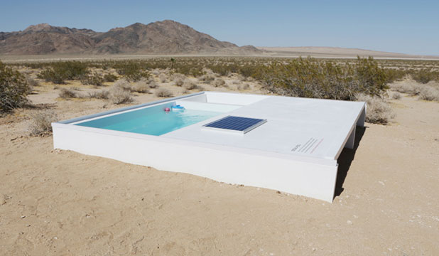 SECRET POOL: You can take a dip in this pool in the middle of the Mojave Desert.... if you can find it. And if you have the key.