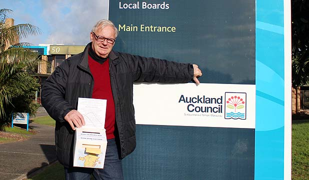 NAGGING ON: NAG chairman Bill Townson gives the Auckland Council the thumbs down and says the next step could be a judicial review.