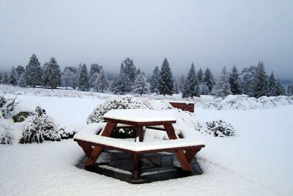 Snow in Te Anau