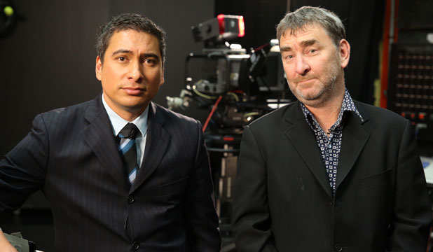 NEW HOME: Russell Brown's Media Take has found a new home on Maori TV with co-host Toi Iti.