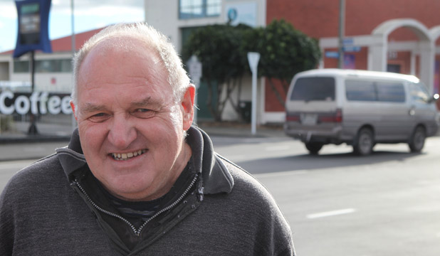 SAVED BY STRANGER: Paul Mathews wants to thank the person who he feels saved his life after he had an epileptic seizure on Colombo St at the weekend.