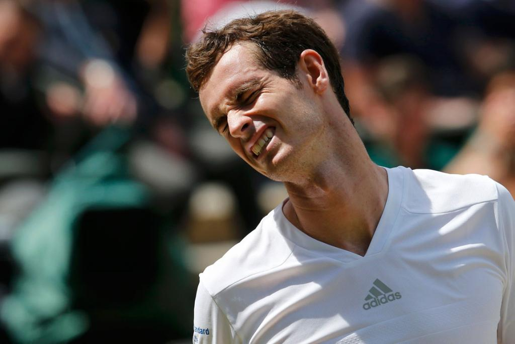 It just wasn't Andy Murray's day as the Wimbledon defending champ was bundled out of the tournament in straight sets by Grigor Dimitrov.