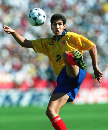 OWN GOAL: Colombian football player Andres Escobar was shot dead less than two weeks after scoring an own goal at the 1994 World Cup.