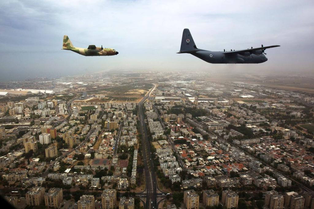 A file photo shows Israeli military aircraft.