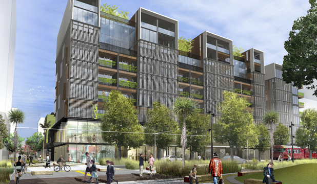 A residential block on Auckland's Daldy St, one of five residential sites which will be developed by Willis Bond close to the waterfront at the Wynyard Quarter.