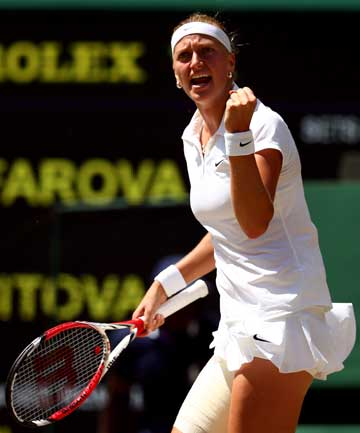 CZECH-MATE: After a first-set tiebreaker, Petra Kvitova took control in the second set, defeating Lucie Safarova in straight sets.