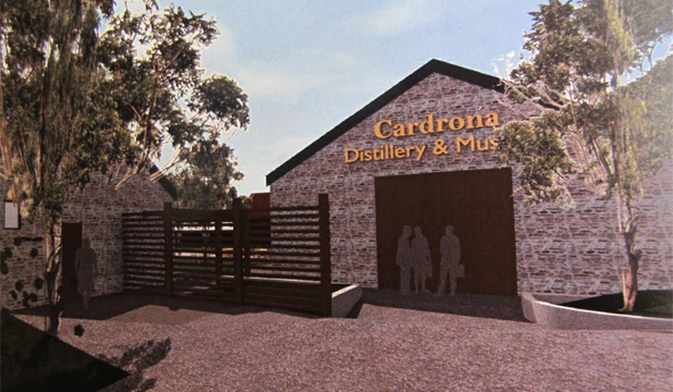Draft architectural concept plans for the Cardrona distillery.