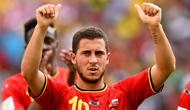 DUE A GOAL: Belgium's Eden Hazard is yet to score a goal at this World Cup.