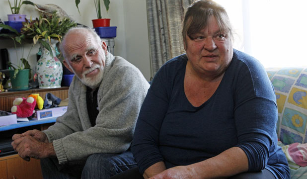 CAMP MUM: Raewyn Iketau and her partner, Charlie Duthie, lived for months without power and water in the central Christchurch red zone after the 2011 earthquake.