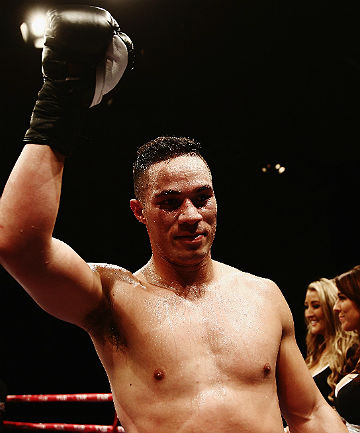 DONE IN SEVEN: Kiwi Joseph Parker celebrates after knocking out Brian Minto of USA.