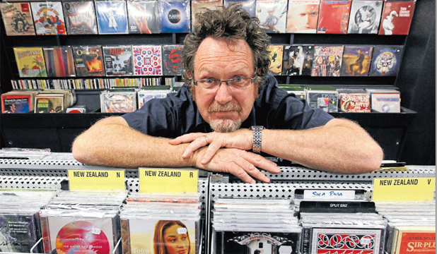PIONEER:  Greg Shaw of Everyman Records with some of his range of records and compact discs in 2011.