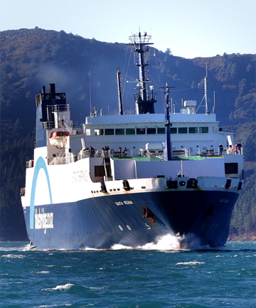 OUT OF ACTION: Bluebridge's Santa Regina ferry will be out of action for two sailings.