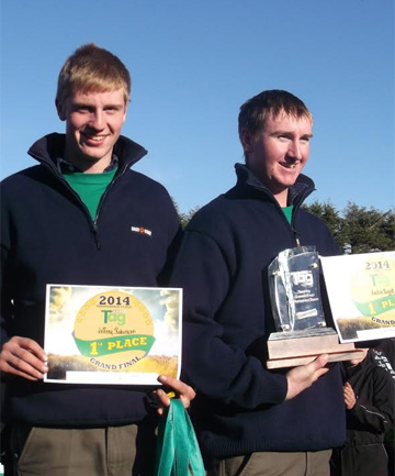 TOP SKILLS: 2014 TeenAg champions the Glenham Monsters, Jeffrey Robinson and Justin Boyd of Otago/Southland were thrilled to win the grand final.