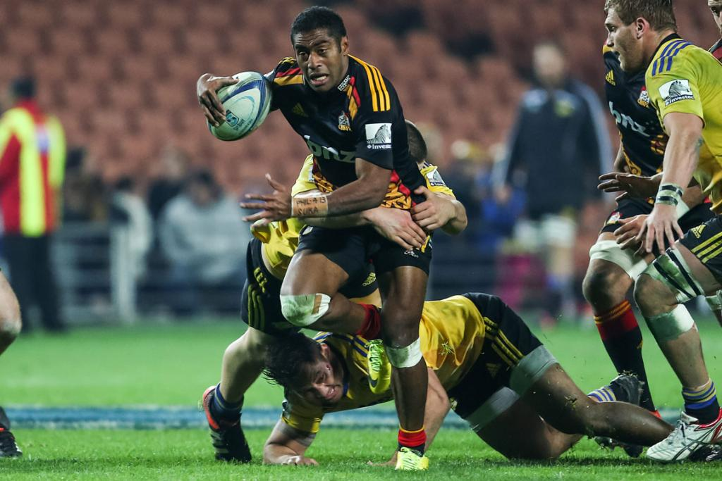 Asaeli Tikoirotuma from the Chiefs during his side's 24-16 win over the Hurricanes in Hamilton.
