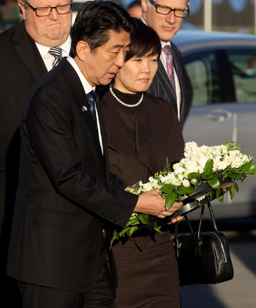 Prime Minister of Japan Shinzo Abe and his wife, Akie Abe
