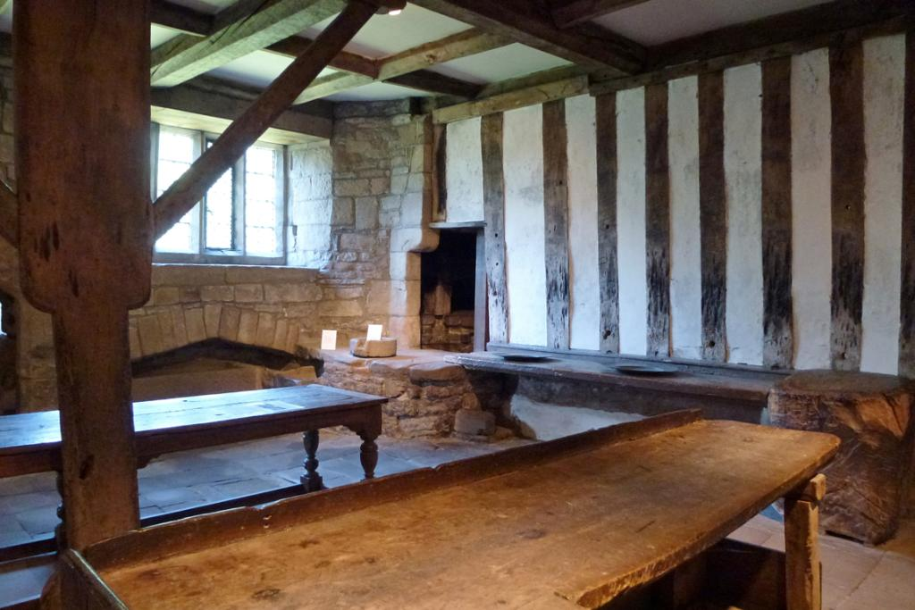 The kitchens are complete with scorch marks and knife cuts made more than 500 years ago.