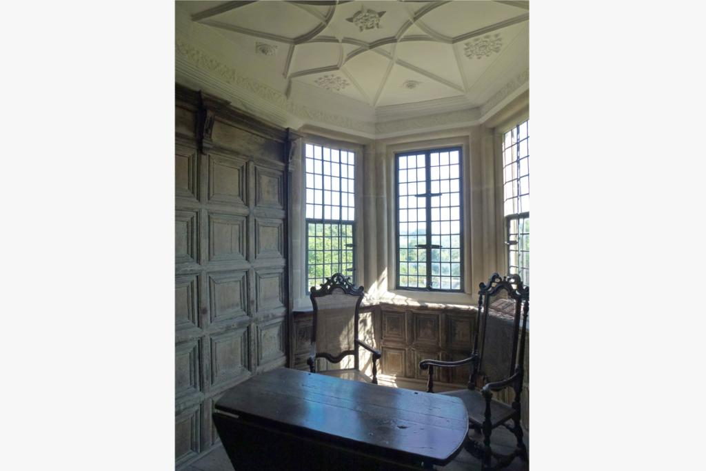 An upstairs room created to maximise sunlight that was once the private quarters for the owner's family.