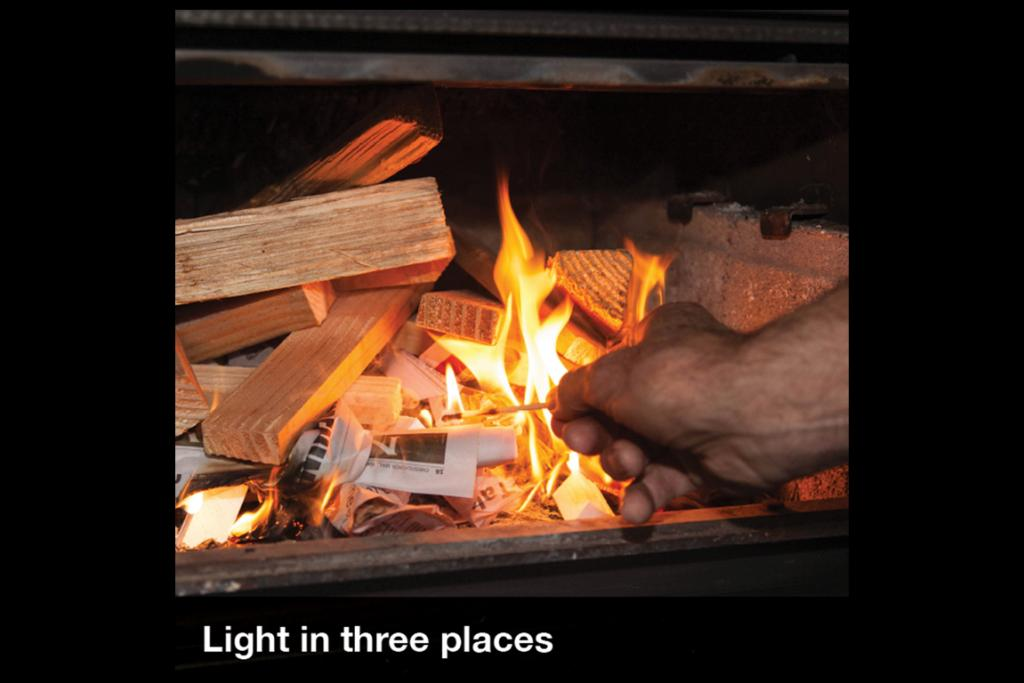 lighting a fire