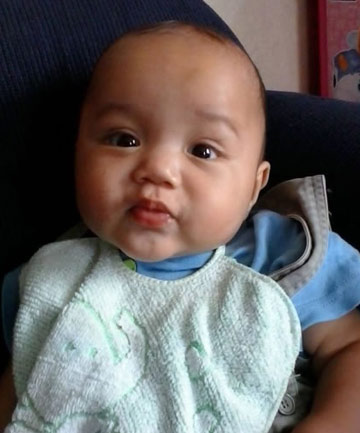 DEAD: Eight-month-old baby Cassius Takiari who is alleged to have been killed by his father, Charlie Lackner, in June.