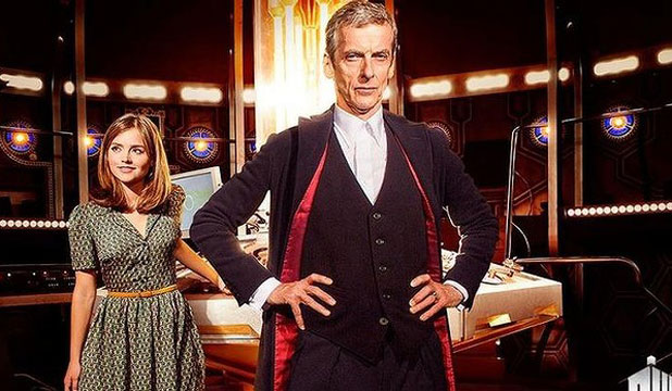 THE NEW DOCTOR: Peter Capaldi as Doctor Who, with Jenna Coleman.