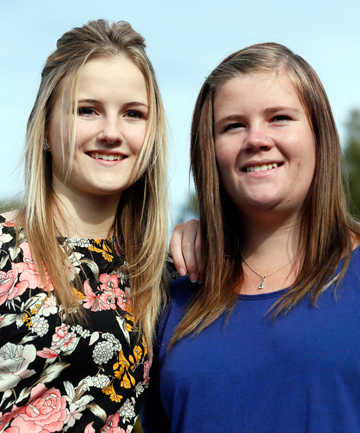 AMBASSADORS:  Nelson College for Girls student Kristina Eddy, left, and Nayland College student Carla Lindley are travelling to China for the International Friendship Forum.