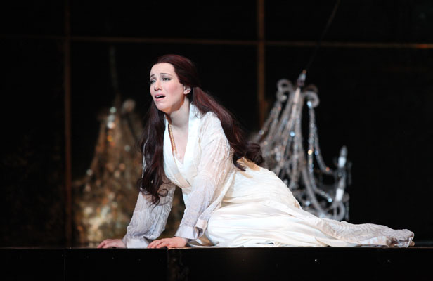 Highs and lows: Australian Lorina Gore plays Violetta Valery, the ''fallen woman'' of New Zealand Opera's La Traviata.