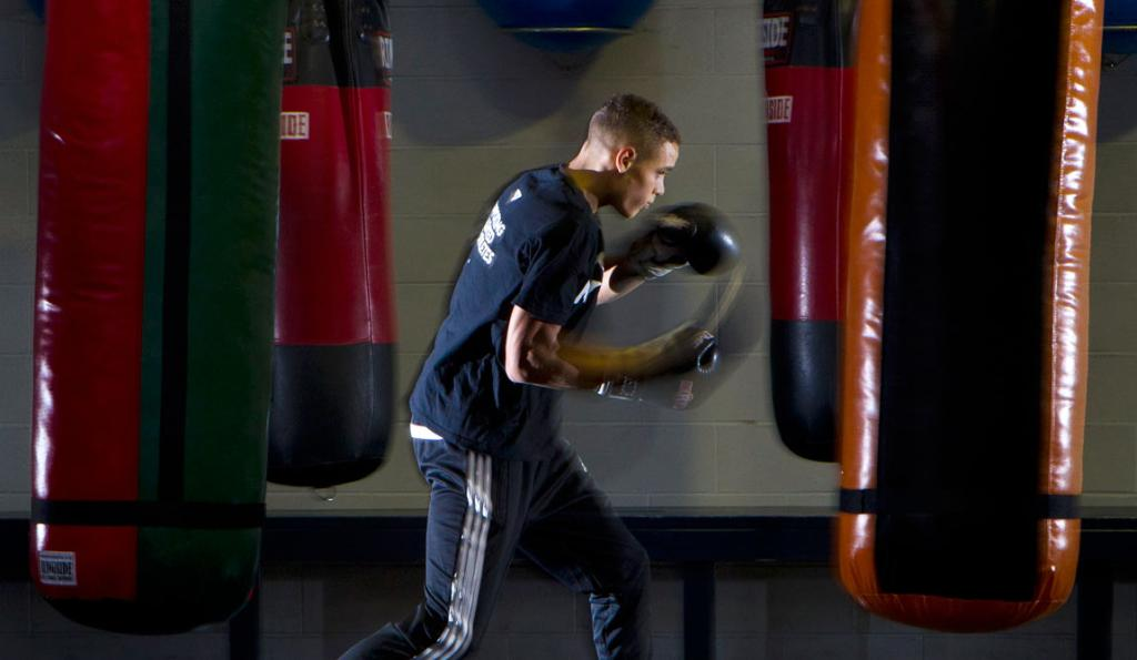 David Nyika preparing for a fight off for a position in the Commonwealth Games boxing team.